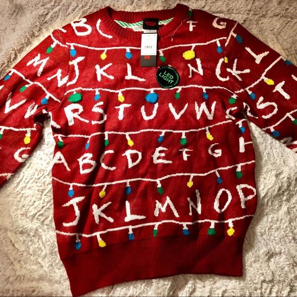 Sweaters Nwt Stranger Things Light Up Sweater Poshmark
